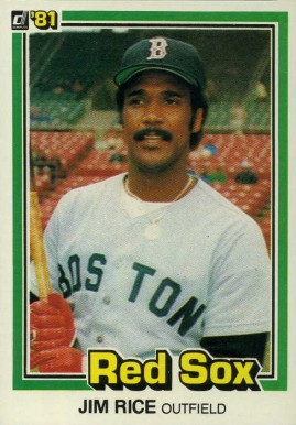 1981 Donruss Jim Rice #338 Baseball Card