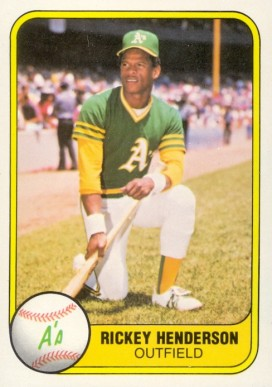 1981 Fleer Rickey Henderson #574 Baseball Card