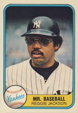 1981 Fleer Reggie Jackson #650 Baseball Card