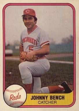 1981 Fleer Johnny Bench 196 Baseball Card Value Price Guide