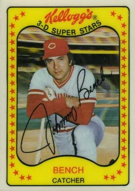1981 Kellogg's Johnny Bench #65 Baseball Card