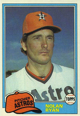 1981 Topps Nolan Ryan #240 Baseball Card