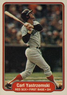 1982 Fleer Carl Yastrzemski #312 Baseball Card