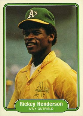 1982 Fleer Rickey Henderson #92 Baseball Card