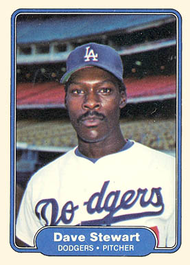 1982 Fleer Dave Stewart #24 Baseball Card