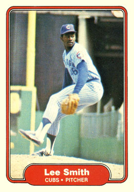 1982 Fleer Lee Smith #603 Baseball Card