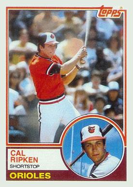 1983 Topps Cal Ripken 163 Baseball Vcp Price Guide