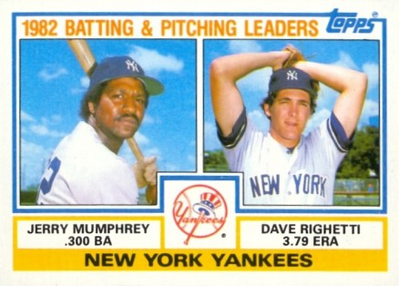 1983 Topps Jerry Mumphrey #81 Baseball Card
