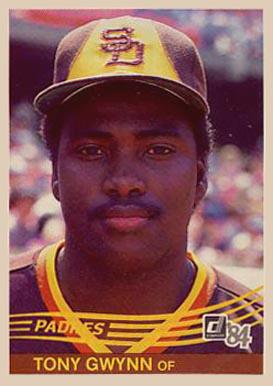 1984 Donruss Tony Gwynn 324 Baseball Card