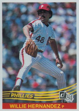 1984 Donruss Willie Hernandez #163 Baseball Card