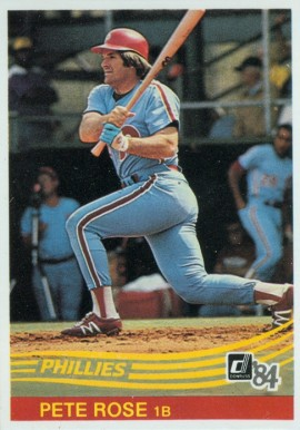 1984 Donruss Pete Rose #61 Baseball Card