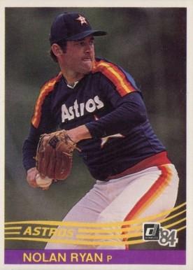 1984 Donruss Nolan Ryan 60 Baseball Card