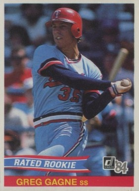 1984 Donruss Greg Gagne #39 Baseball Card