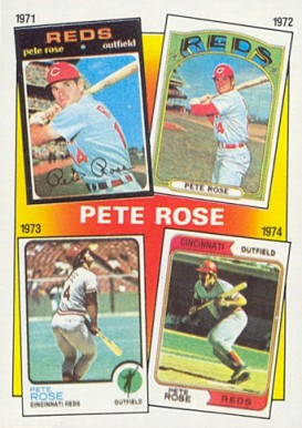 1986 Topps Pete Rose #4 Baseball Card