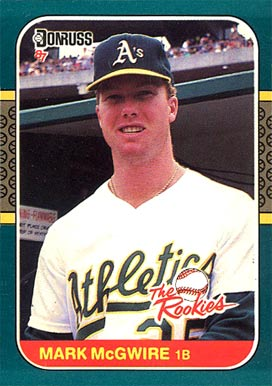 1987 Donruss Rookies Mark McGwire #1 Baseball Card