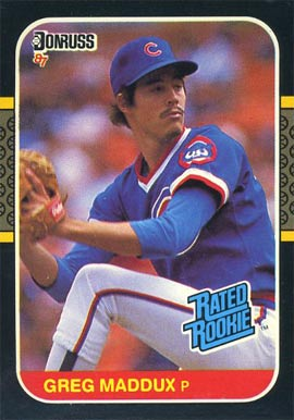 1987 Donruss Greg Maddux #36 Baseball Card