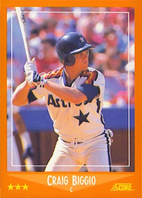 1988 Score Rookies Traded Craig Biggio #103T Baseball Card