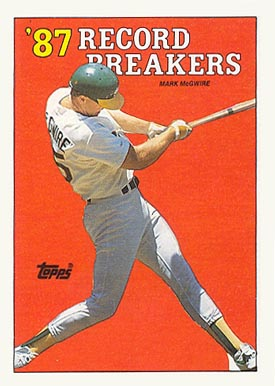 1988 Topps Mark Mcgwire White Triangle By Left Foot 3wht Baseball