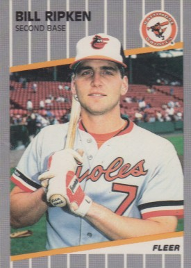1989 Fleer Bill Ripken #616-(F**K FACE) Baseball Card