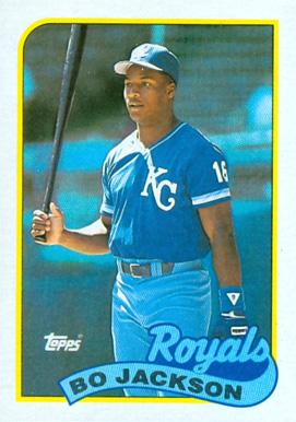 1989 topps bo jackson 540 baseball card value price guide