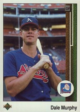 1989 Upper Deck Dale Murphy #357-err Baseball Card