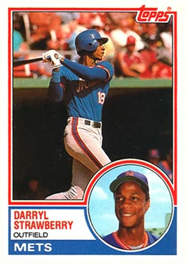 1983 Topps Traded Darryl Strawberry #108T Baseball Card