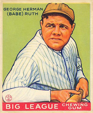1933 Goudey Babe Ruth #181 Baseball Card