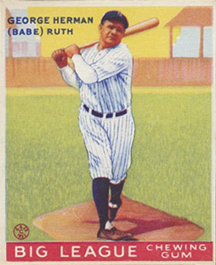 1933 Goudey Babe Ruth #144 Baseball Card