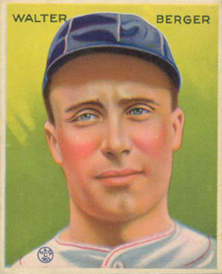 1933 Goudey Walter Berger #98 Baseball Card