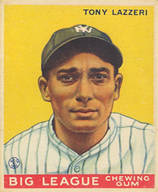 1933 Goudey Tony Lazzeri #31 Baseball Card
