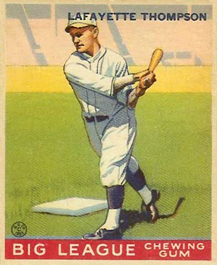 1933 Goudey Lafayette Thompson #13 Baseball Card