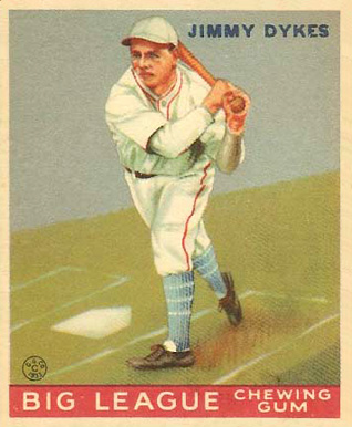 1933 Goudey Jimmy Dykes #6 Baseball Card