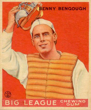1933 Goudey Benny Bengough #1 Baseball Card