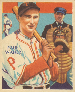 1935 Diamond Stars  Paul Waner #83 Baseball Card