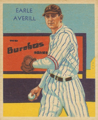 1935 Diamond Stars Earl Averill #35 Baseball Card