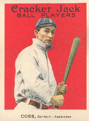 1915 Cracker Jack Ty Cobb #30 Baseball Card