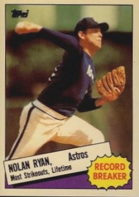 1985 Topps Tiffany Nolan Ryan (Record Breaker) #7 Baseball Card