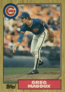 1987 Topps Traded Tiffany Greg Maddux #70T Baseball Card
