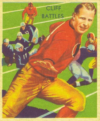 1935 National Chicle Cliff Battles #10 Football Card