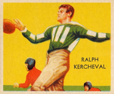 1935 National Chicle Ralph Kercheval #19 Football Card