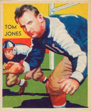 1935 National Chicle Tom Jones #17 Football Card