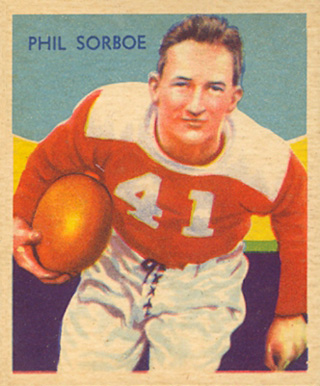 1935 National Chicle Phil Sarboe #14 Football Card