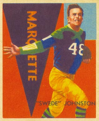 1935 National Chicle Swede Johnston #32 Football Card