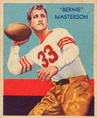 1935 National Chicle Bernie Masterson #36 Football Card