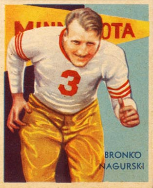 1935 National Chicle Bronko Nagurski #34 Football Card