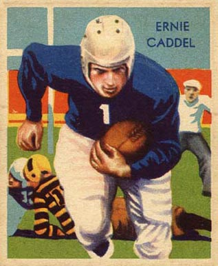 1935 National Chicle Ernie Caddel #30 Football Card