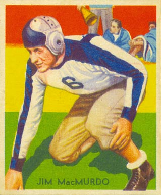 1935 National Chicle Jim MacMurdo #29 Football Card