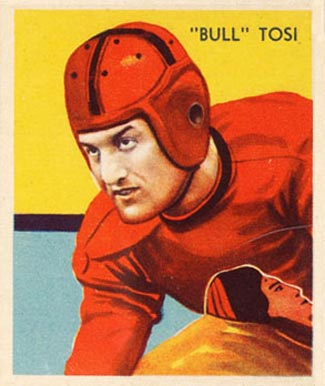 1935 National Chicle Bull Tosi #27 Football Card