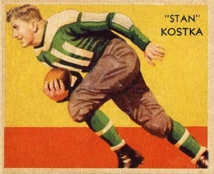 1935 National Chicle Stan Kostka #28 Football Card