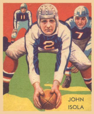 1935 National Chicle John Isola #26 Football Card